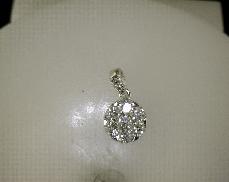 18kW 0.83ctw Diamond Cluster Pedant