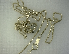 14kY 18   Diamond Cut Wheat Chain Necklace [1.9g]