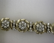 JABEL 18kY 3.03ctw F-G SI Diamond Bracelet [26.3dwt]
