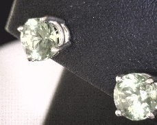14kY 2.50ct Peridot Stud Earrings