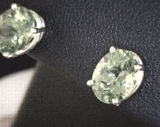 14kY 3.75ct Oval Peridot Stud Earrings