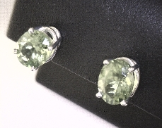 14kW 3.75ct Oval Peridot Stud Earrings