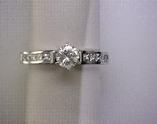 14kW 0.50ctw H-I VS2-SI1 Diamond (10) Engagement Semi-Mount