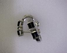 10kW Sapphire & 0.04ctw I-J I2 Diamond Earrings