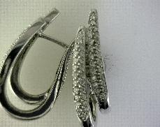 14kW 0.46ctw G-H SI Diamond (92) Hinged Earrings