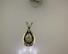 14kTT 0.07ctw G-H I1 Diamond Pendant [0.50dwt]