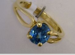 2.25 carat blue zircon ring 