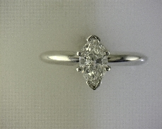 14kW/Plat. 0.70ct G SI1 Marquise Solitaire Engagement Ring