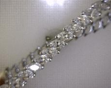 14kW CZ Stone Link Bracelet [6.8dwt]