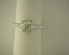Forevermark One .76 carat  Fancy Intense Diamond  Clarity VS2 Forevermark ID 9165786 Setting...