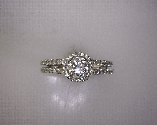 14kW 0.62ctw G-H SI2 Diamond (72) Engagement Semi-Mount